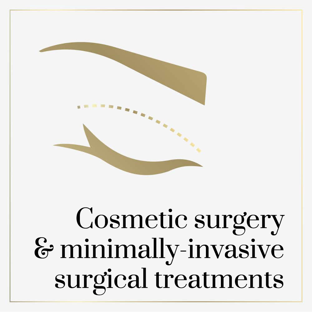 Cosmetic surgery and minimally invasive surgical treatments